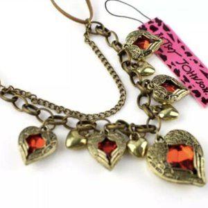 BetseyJohnson Retro Red Heart Necklace